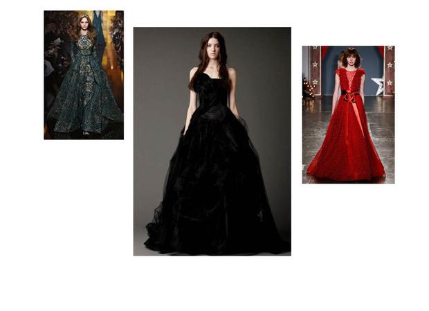 цвета свадебных платьев фото