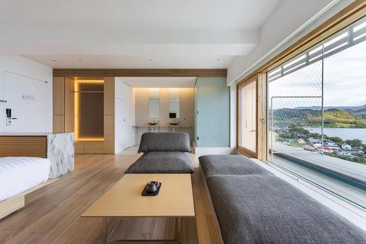 Отель по проекту Кенго Кумы на острове Хоккайдо (фото 13)