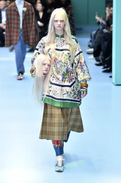 В Милане прошел показ Gucci (галерея 4, фото 23)