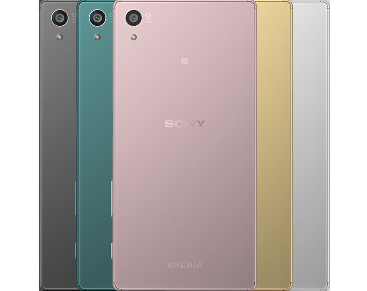 Новый телефон Sony Xperia Z5 в розовом цвете