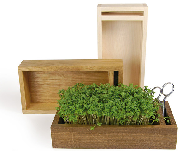 Деревянные ящики для выращивания зелени с отделением для ножниц, Raumgestalt