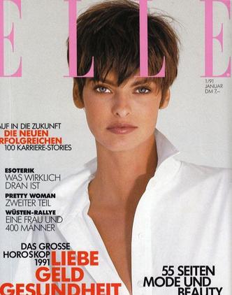 Oh bella! Лучшие обложки ELLE с легендарной Линдой Евангелистой (фото 6.1)