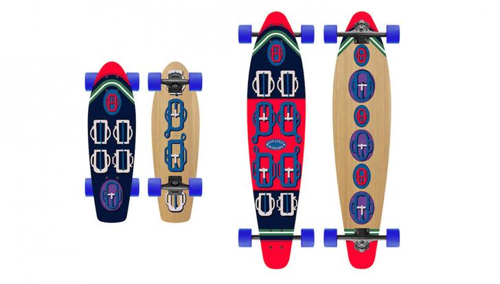 Hermes Skateboard and Longboard