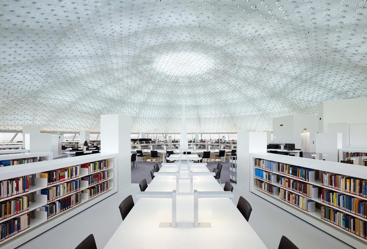 Яркая библиотека по проекту Жана Нувеля (фото 11)