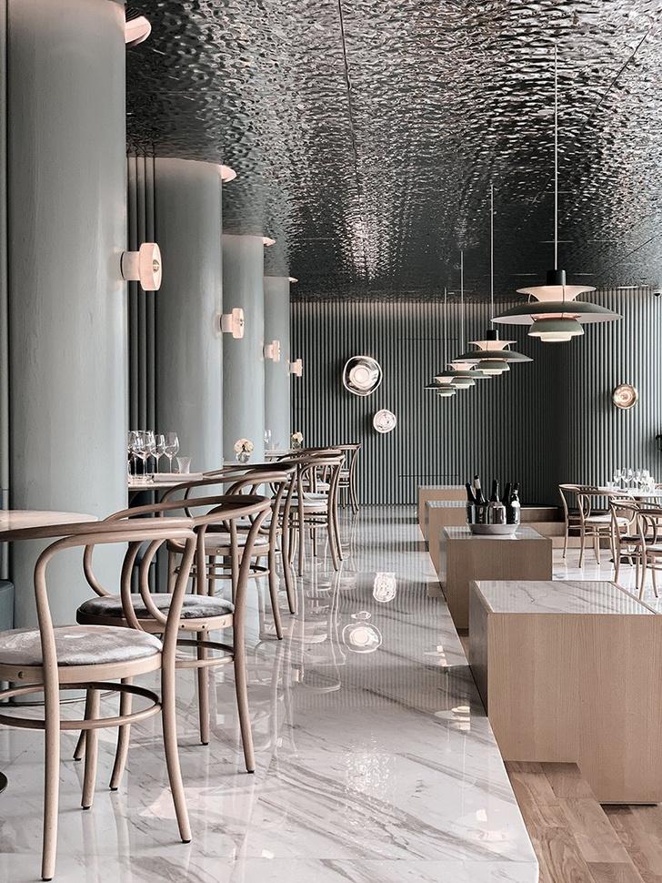 Французский ресторан с зеркальным потолком в Гуанчжоу (фото 6)