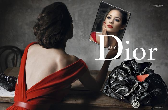 Марион Котийяр в рекламной кампании Dior Lady Rouge