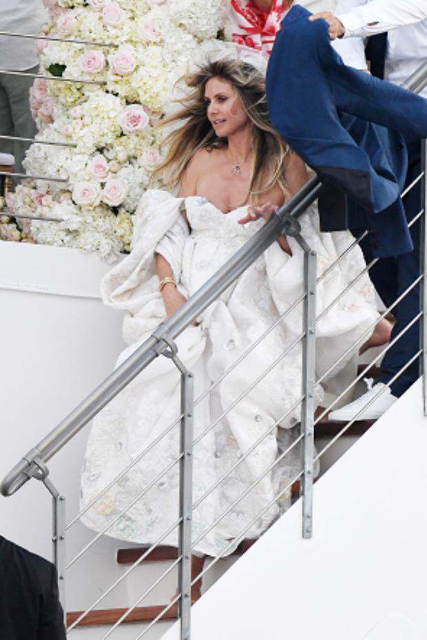 Первый взгляд: бесподобное свадебное платье Хайди Клум (фото 2)