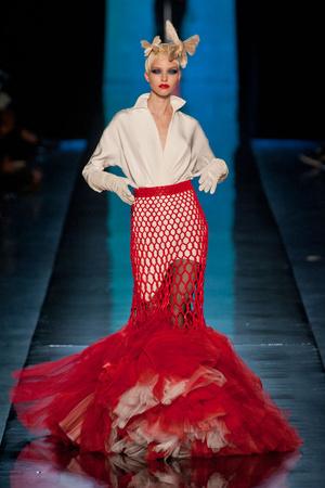 Показы мод Jean Paul Gaultier Весна-лето 2014 | Подиум на ELLE - Подиум - фото 3783