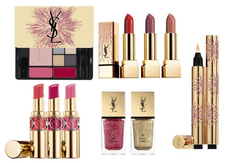 YSL Beauty Dazzling Lights фото новогодняя коллекция