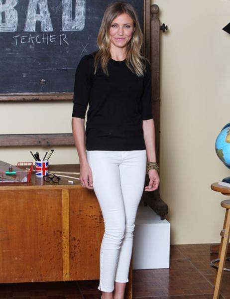 Cameron Diaz-white-pants