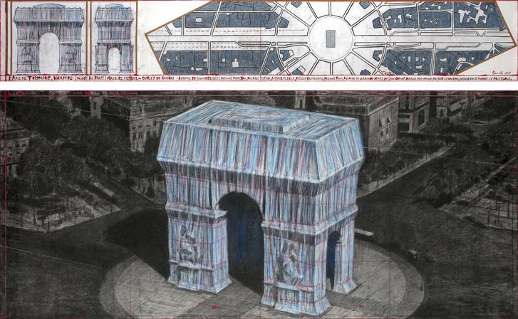 Христо «упакует» Триумфальную арку в Париже (фото 2)
