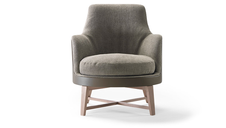 Кресло Guscio Soft, дизайн Антонио Читтерио, в обивке из 100%-ного кашемира, Flexform, новинка 2014 года.