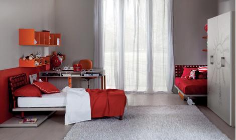 Подростковая мебель компании Di Liddo&Perego (салоны «Трио», «Флэт-интерьеры»).
