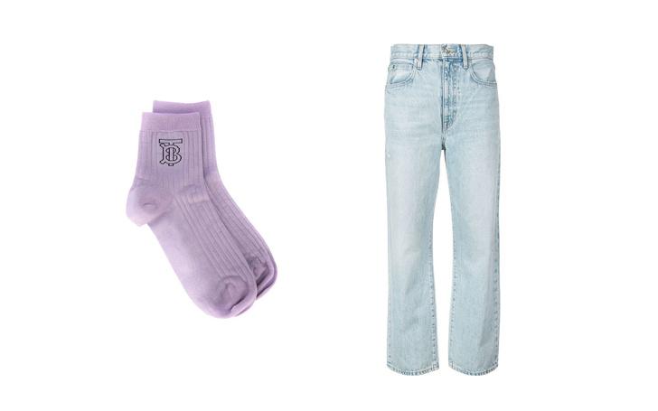 Джинсы + высокие носки: тренд для непогоды (фото 2)