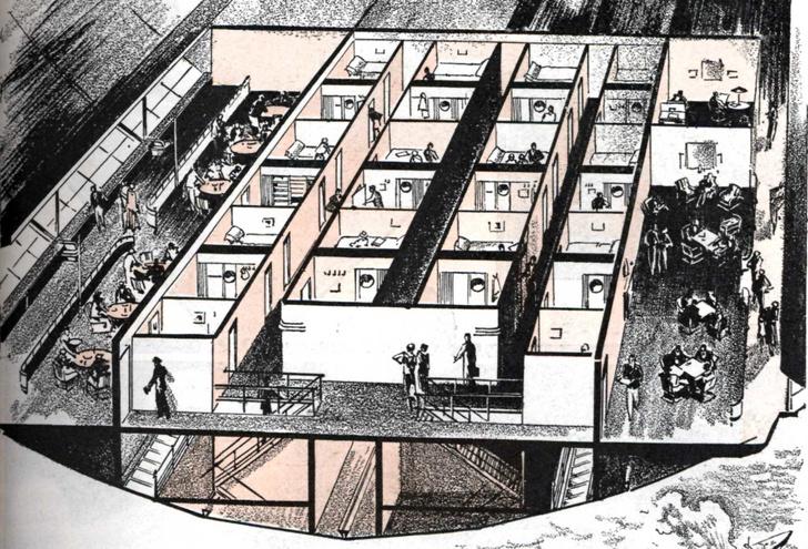 Интерьеры дирижабля «Гинденбург» (фото 3)