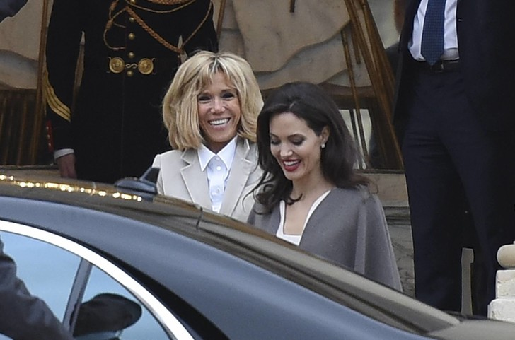 Анджелина Джоли встретилась с Бриджит Макрон (фото 1)