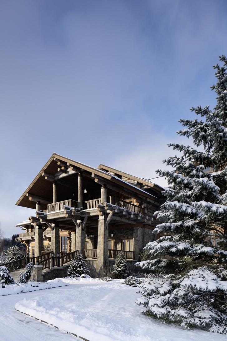 Зимняя дорога: загородный дом на Волге (фото 0)