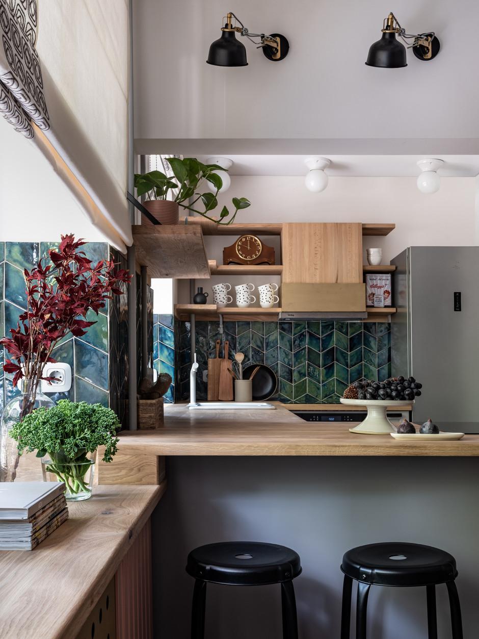 барная стойка на кухне 30 практичных идей Elle Decoration