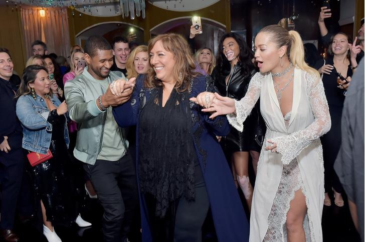 Блейк Лайвли, Ким Кардашьян и Хайди Клум на вечеринке в Голливуде (фото 1)