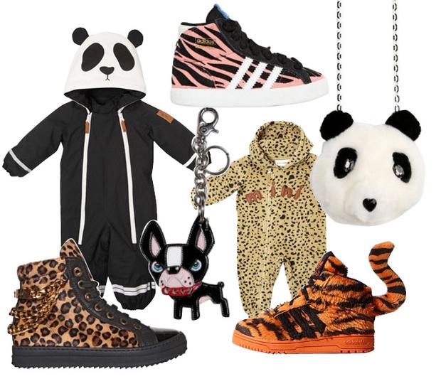 Комбинезоны, MiniRodini; сумка, SImonetta; кеды, брелок, все – Dsquared2; кеды, adidas Originals by Jeremy Scott