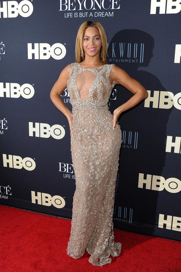 Бейонсе на премьере картины Beyonce: Life Is But A Dream в Нью-Йорке, 2013 год