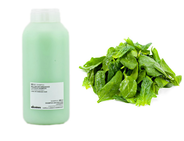 Davines Melu anti-breaking shampoo with spinach extract