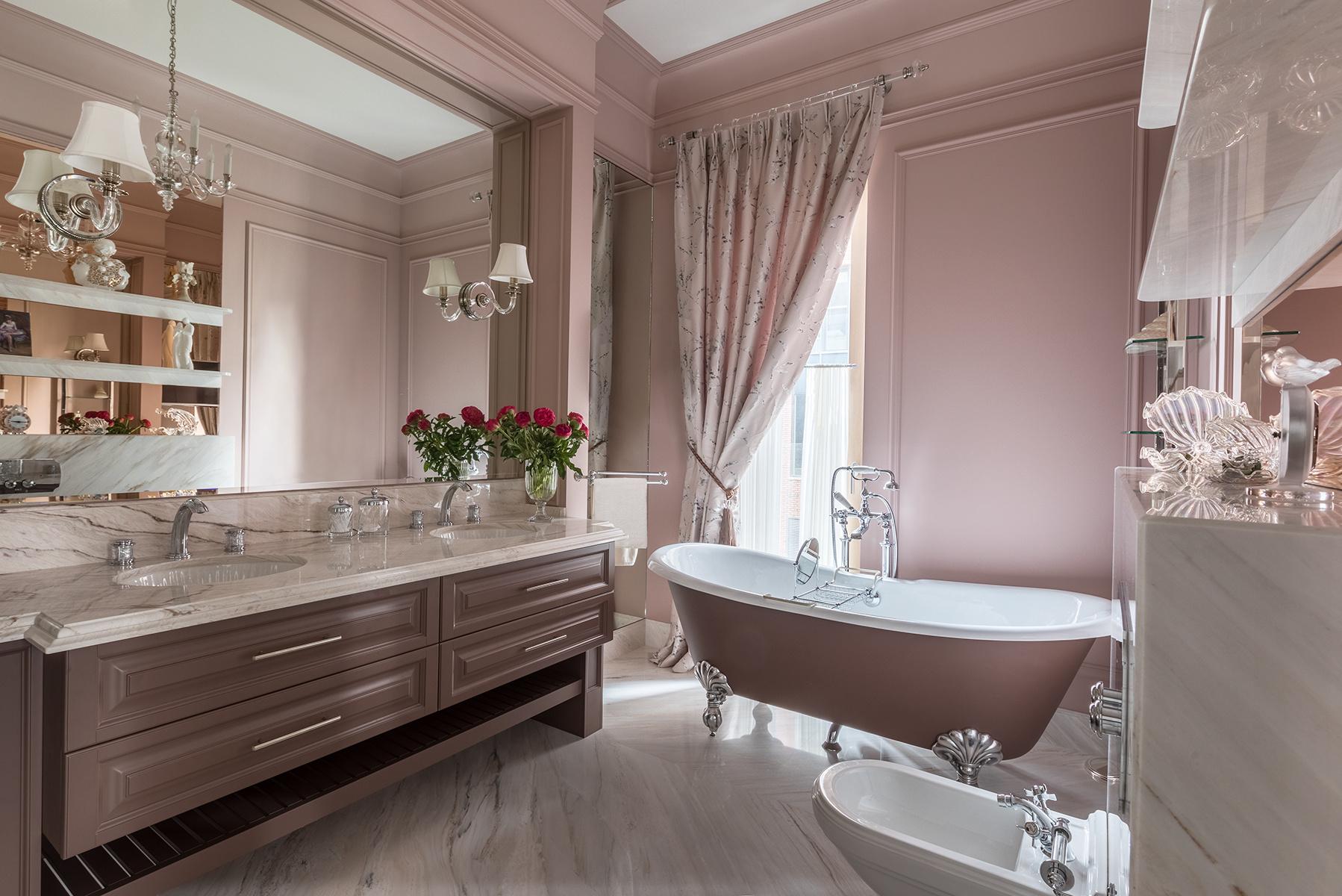 Розовая пудра: 12 ванных комнат в розовой гамме (галерея 0, фото 4)
