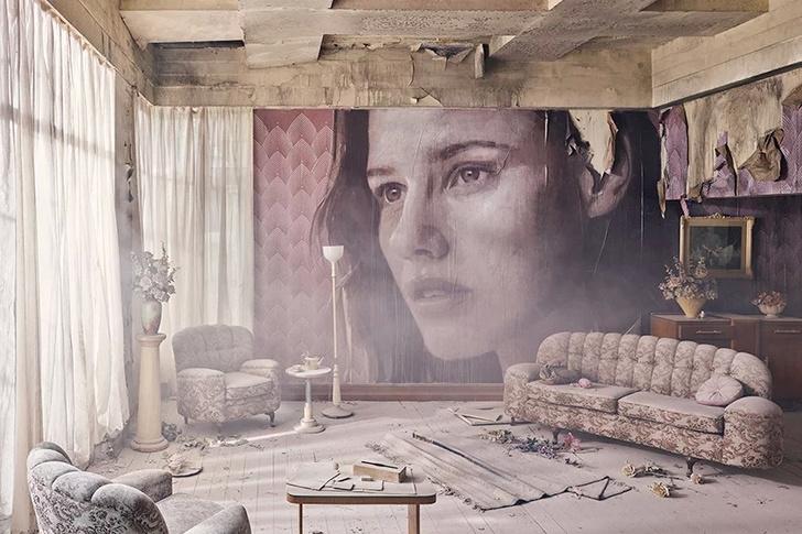 Блеск и нищета: картины на стенах заброшенного особняка (фото 9)