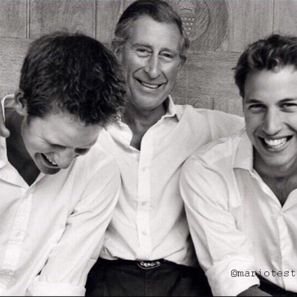 Принц Чарльз, принц Уильям и принц Гарри: фото 2015