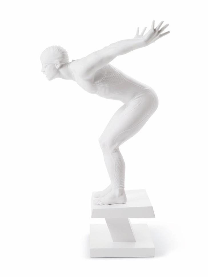 Скульптура пловца, Lladro