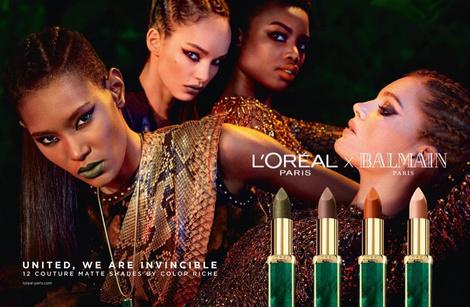 Даутцен Крез и другие модели в рекламной кампании L'Oreal Paris Х Balmain | галерея [1] фото [3]