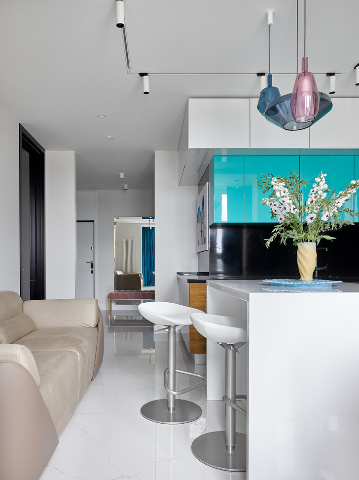 квартира в синих тонах (фото 2)