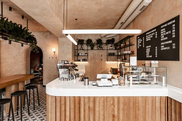 Бежевая кофейня в Одессе (фото 0)
