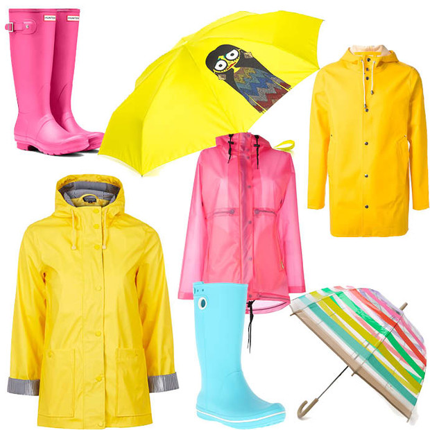 Выбор ELLE: сапоги Hunter и Crocs, зонты Marc by Marc Jacobs и Kate Spade, плащи Topshop, Hunter, Stutterheim