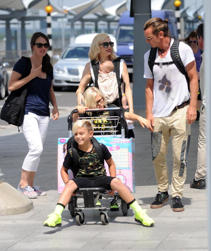 Гвен Стефани и Гэвин Россдейл с детьми