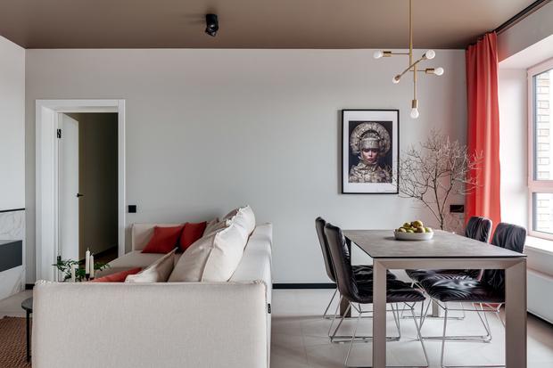 Современная квартира 70 м² с этническим декором (фото 3)