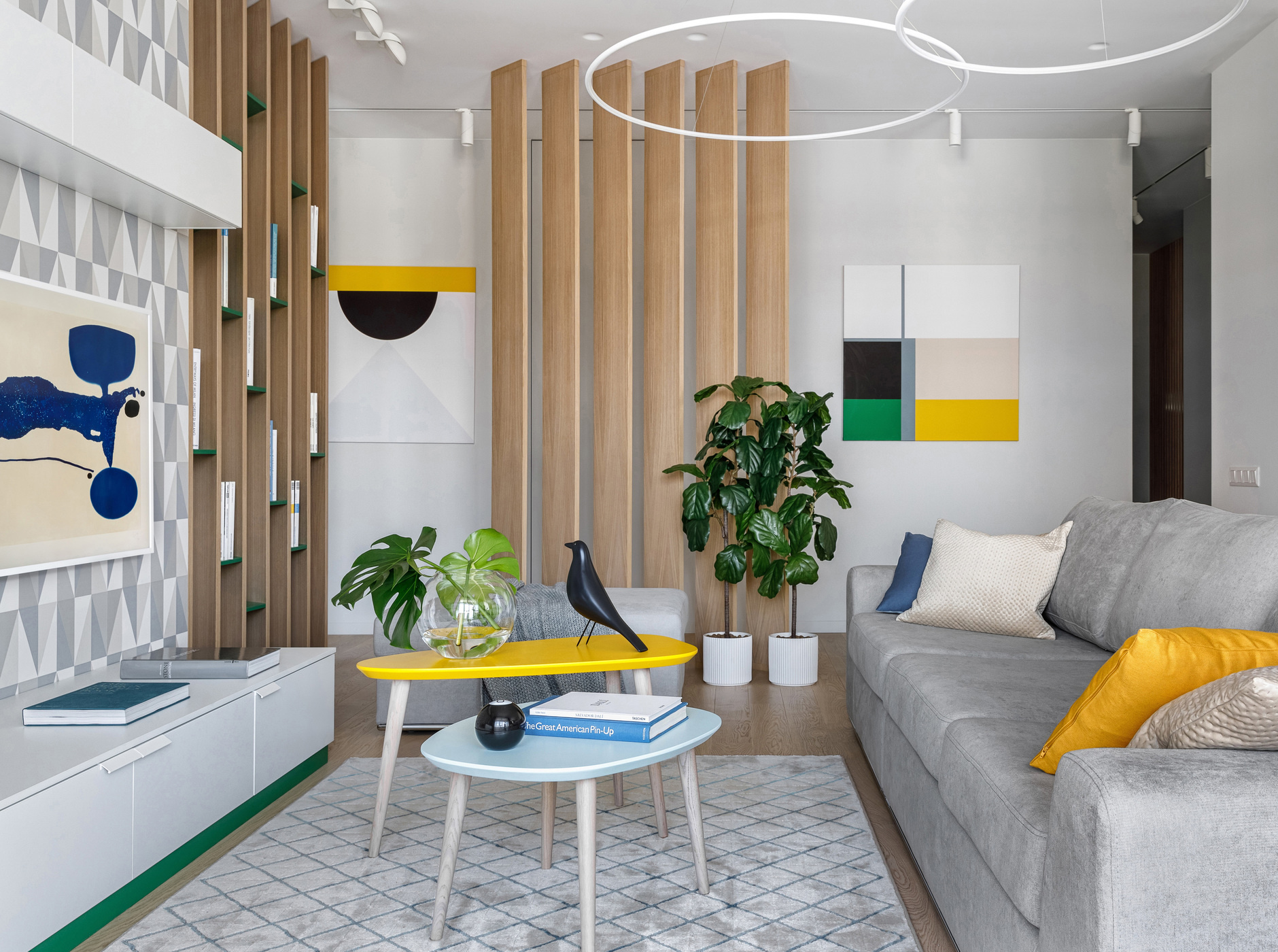 Терапия цветом: 40 проектов ярких гостиных (галерея 1, фото 0)