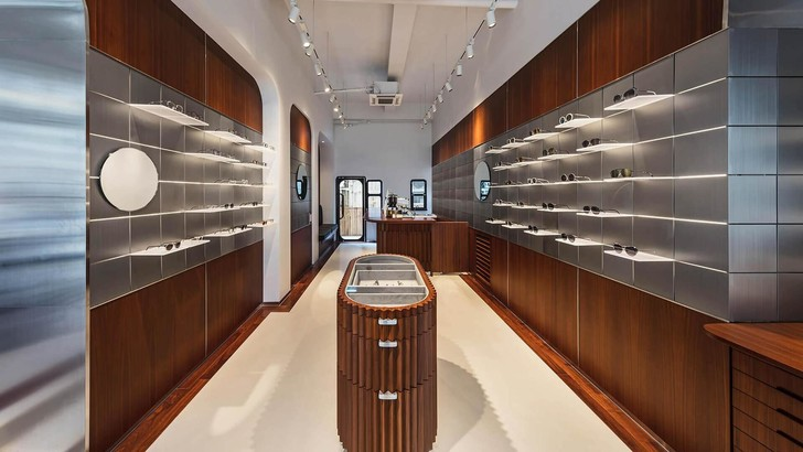 A sunglass boutique shows how designers can use light as material (фото 0)