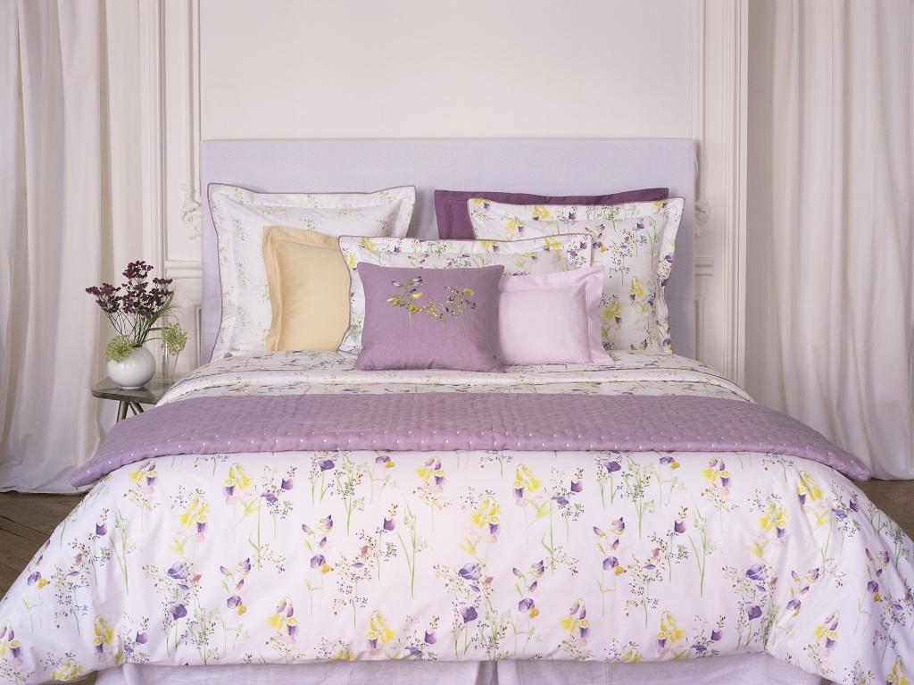 Цветущий вид: новая коллекция постельного белья Yves Delorme | галерея [1] фото [2]