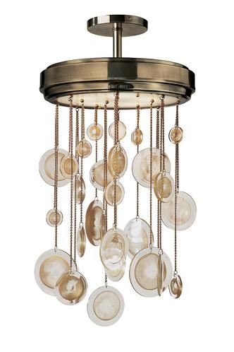 Люстра Syro, латунь, полированная бронза, муранское стекло, Baker.
