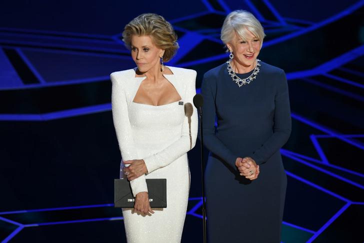 Две легенды: Джейн Фонда и Хелен Миррен на сцене премии «Оскар-2018» (фото 6)
