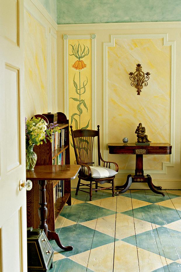 Холл в английском доме, художница Джулия Хэдленд.