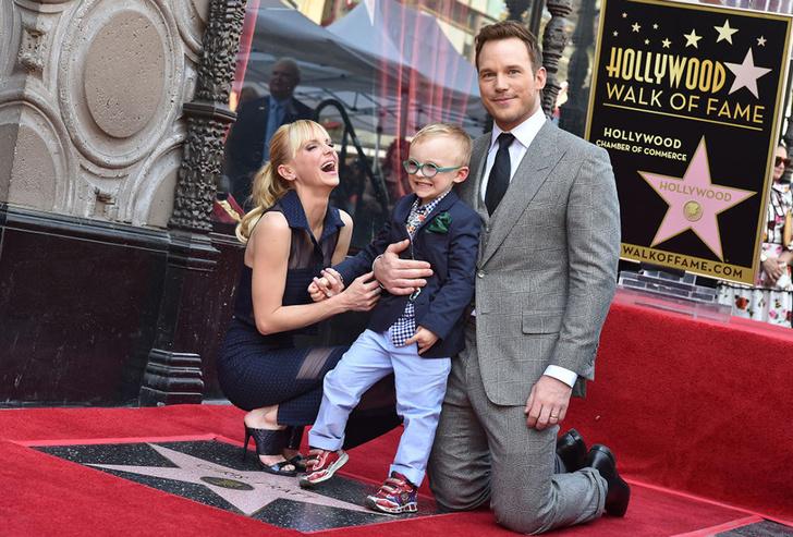 Крис Пратт и Анна Фэрис с сыном Джеком