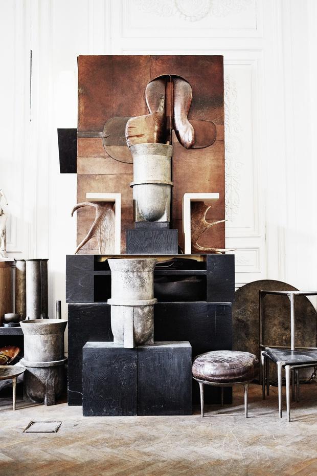 Рик Оуэнс: мебель из мрамора и рога (фото 16)