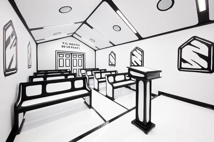 «Нарисованная» часовня в Лас-Вегасе (фото 4)