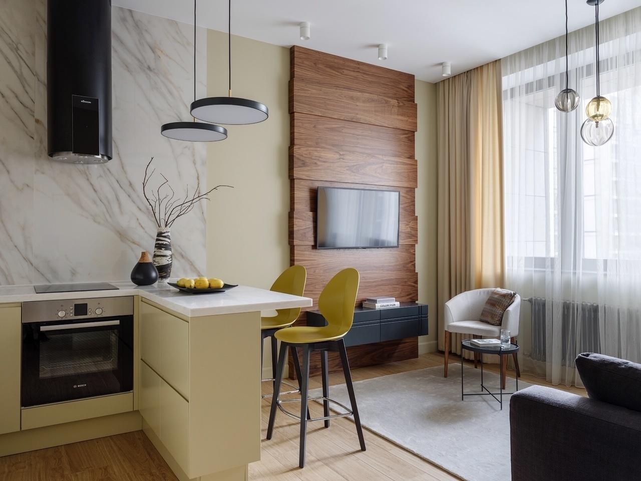 Дизайн кухни-гостиной: 30 примеров (галерея 0, фото 0)