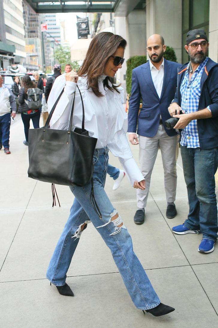 Самая стильная белая рубашка — у Кэти Холмс. Где купить такую же? (фото 2)
