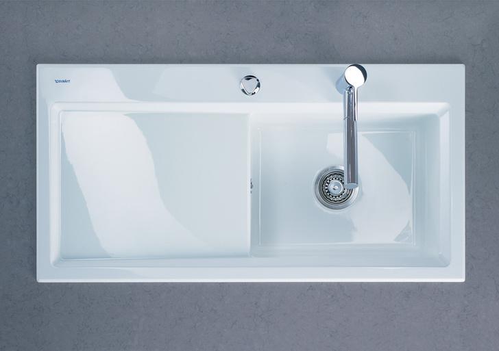 Керамическая мойка Kiora, модель доступна в пяти цветах, включая антрацит и черный, дизайн студии Sieger Design для Duravit, www.duravit.com