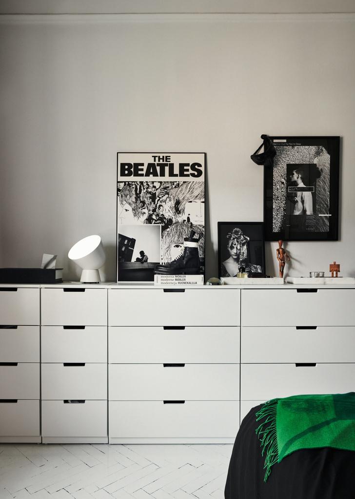 Монохромная квартира для дизайнера в Стокгольме (фото 14)