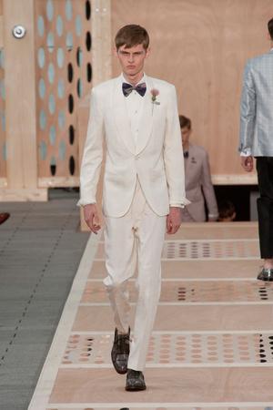 Показ Louis Vuitton коллекции сезона Весна-лето 2014 года Men prêt-à-porter - www.elle.ru - Подиум - фото 556983